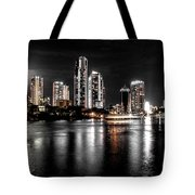 Surfers Paradise Night Reflections Tote Bag