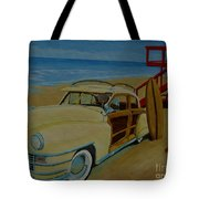 Surfers Woody Tote Bag