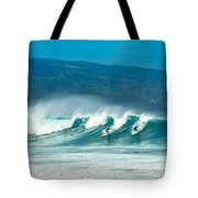 Surfing Duel Tote Bag