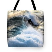 Surfing For Gold Tote Bag