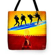 Surfing For Peace Tote Bag
