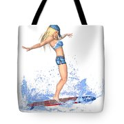 Surfing Girl Tote Bag