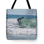 Surfing In California Tote Bag