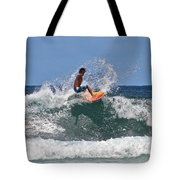 Surfing In Hawaii Tote Bag