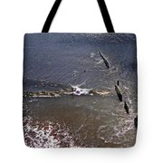 Surfing In Historys Shadow Tote Bag