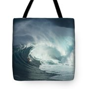 Surfing Jaws Fast And Furious Tote Bag