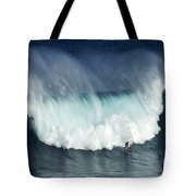 Surfing Jaws Running With Wolves Tote Bag