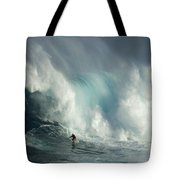 Surfing Jaws The Wild Side Tote Bag