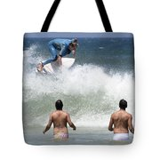 Surfing Joaquina Beach Brazil 1 Tote Bag
