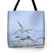 Surfing Party At Clearwater Beach Tote Bag