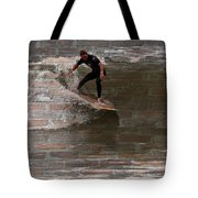 Surfing The Bricks Tote Bag