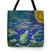 Surfing The Sun Tote Bag