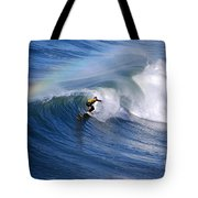 Surfing Under A Rainbow Tote Bag