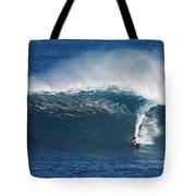 Surfing Waimea Bay Tote Bag