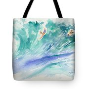 Surf's Up Tote Bag by Lynn Buettner