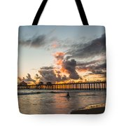 Surfs Up On A Sunset Tote Bag