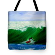Surf's Up Surfing Wave Ocean Tote Bag