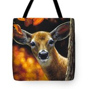 Whitetail Deer - Surprise Tote Bag by Crista Forest