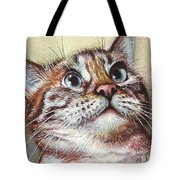 Surprised Kitty Tote Bag by Olga Shvartsur