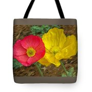 Surprised Poppies Tote Bag