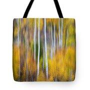 Surreal Aspen Tree Magic Abstract Art Tote Bag