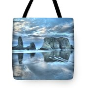 Surreal Beach Swirls Tote Bag