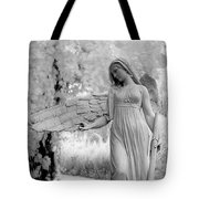 Surreal Dreamy Fantasy Infrared Angel Nature Tote Bag