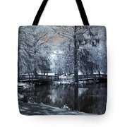 Surreal Dreamy Fantasy Nature Infrared Landscape - Edisto Park South Carolina Tote Bag