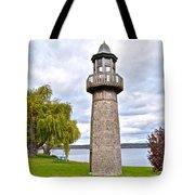 Surreal Lighthouse Tote Bag
