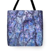Surreal Patterned Bark In Blue Tote Bag