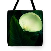 Surreal Peace Lily Tote Bag