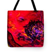Surreal Poppy  . . .  Woman Breaks Out Tote Bag