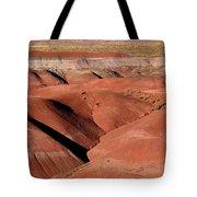 Surreal Red Landscape Tote Bag