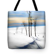 Surreal Snowscape Tote Bag