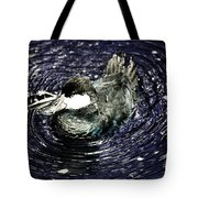 Surrounded By Purple Water Rings Tote Bag