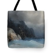 Survivors Of A Shipwreck On A Rocky Path  Tote Bag