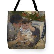 Susan Comforting The Baby Tote Bag