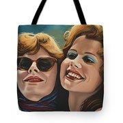 Susan Sarandon And Geena Davies Alias Thelma And Louise Tote Bag by Paul Meijering