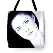 Susan Ward Blue Eyed Beauty With A Mole II Tote Bag