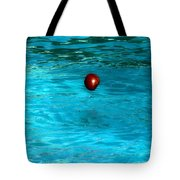 Suspended Apple Tote Bag
