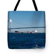 Suspension Bridge Over A Bay Tote Bag