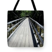 Suspension Bridge Over Pemigewasset River Nh Tote Bag