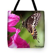 Swallowtail And Azalea - Love Tote Bag