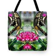 Swallowtail Butterfly Digital Art Tote Bag
