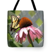Looking Up At Swallowtail On Coneflower Tote Bag