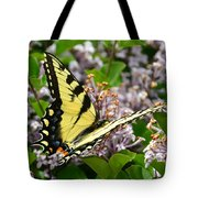 Swallowtail On Lilacs Tote Bag