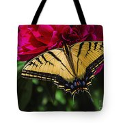 Swallowtail On Peony Tote Bag