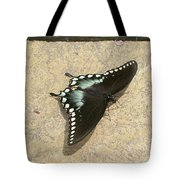 Swallowtail On The Rocks Tote Bag