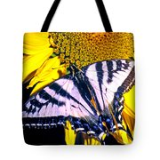 Swallowtail Sunflower Tote Bag