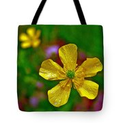 Swamp Buttercup Near Loon Lake In Sleeping Bear Dunes National Lakeshore-michigan  Tote Bag